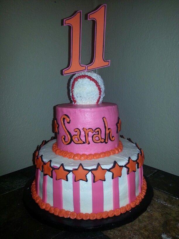 Softball Cake Decorating Ideas 13620 Girls Baseball Softba