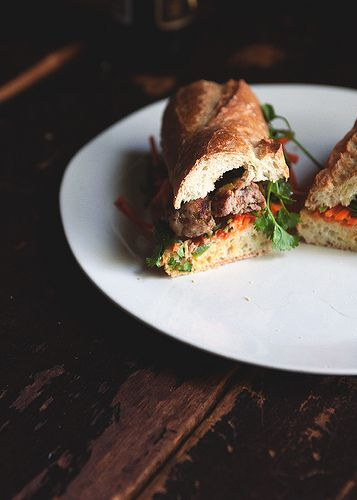 Pork meatball banh mi | Dinner for the family | Pinterest