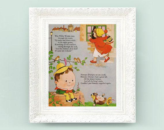 Vintage Lucie Attwell Print 8x10 Humpty Dumpty Wee Willie Winkie Fair ...: pinterest.com/pin/524036106612174103