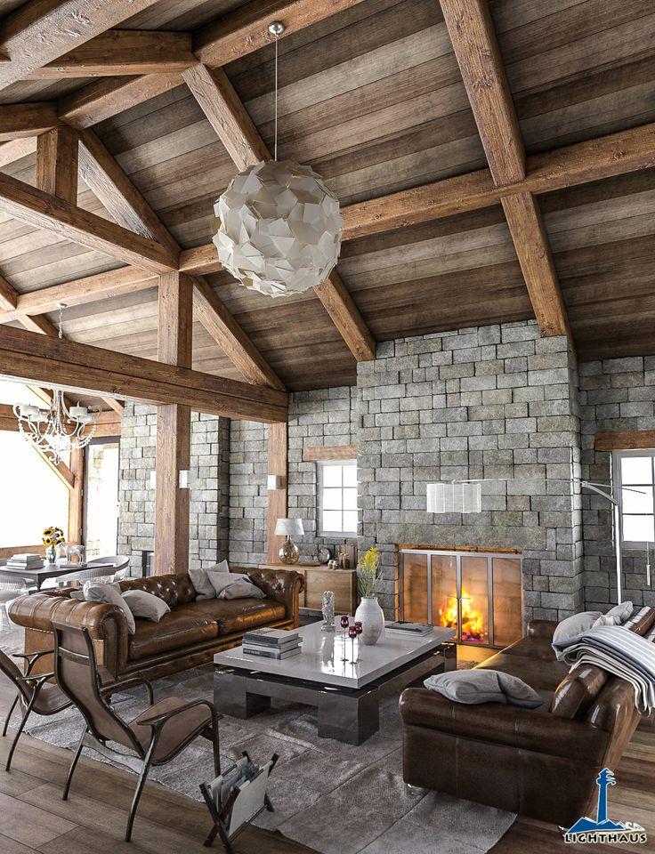 rustic_interior Cabins Pinterest