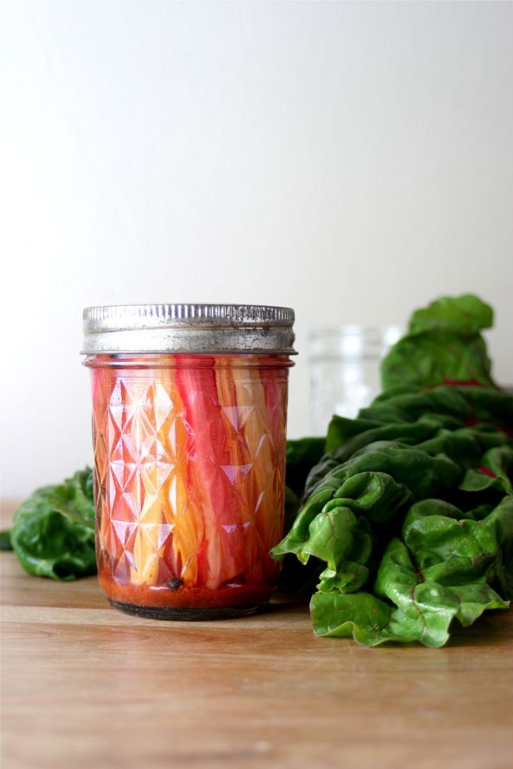 How to Pickle Any Vegetable --- and a recipe for beautiful Pickled Rainbow Chard. Detailed instructions and important advice on food safety for those new to pickling and canning foods.
