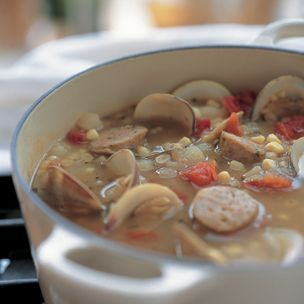 Sausage, Corn and Clam Soup | Recipes | Pinterest