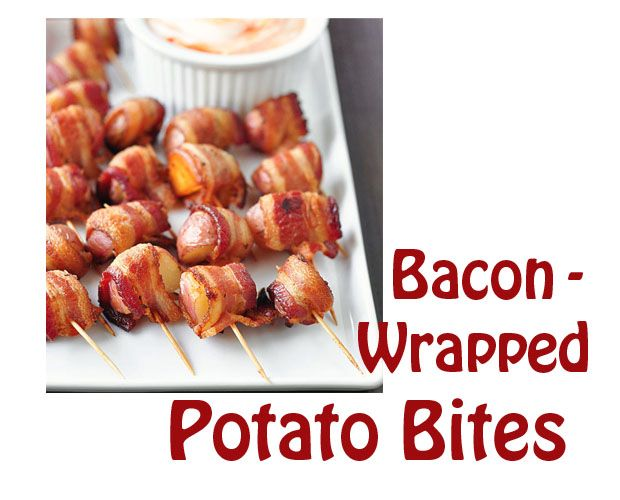 Bacon-Wrapped Potato Bites With Spicy Sour Cream Dipping Sauce Recipe ...