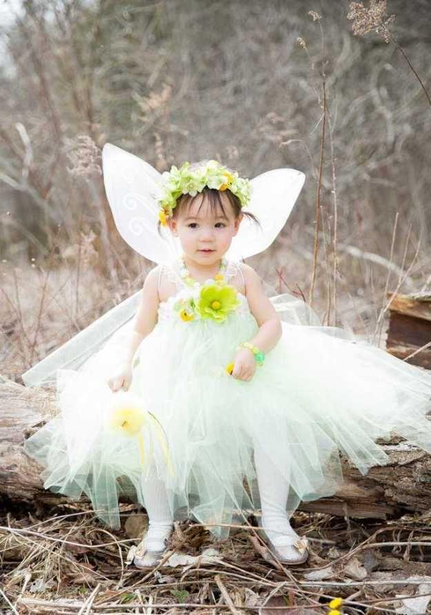 Fairy themed wedding flower girl dress bday enchanted for Fairy themed wedding dresses