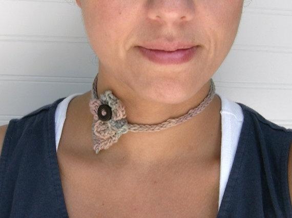 Springtime necklace headband