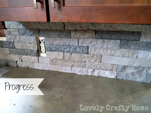 lowes 39 airstone as a backsplash for the home pinterest