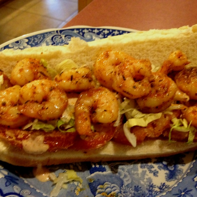 Shrimp Po' Boy with Fried Tomatoes | PO' BOY RECIPES | Pinterest
