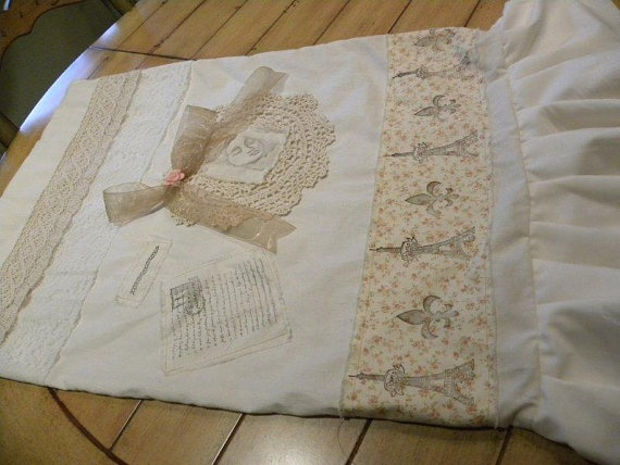 French Country Pillow Sham by MozTreasures on Etsy, $32.50
