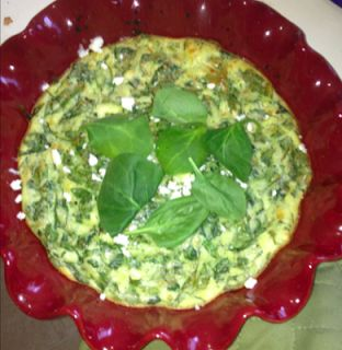 the.well.traveled.wife: crustless spinach & feta quiche