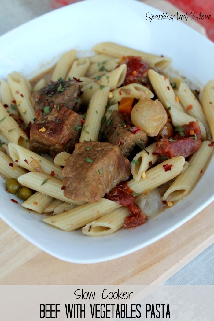 Beef Pasta Recipe In The Slowcooker | Recipe