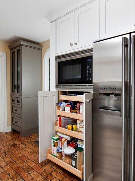 Storage Microwave Kitchen Ideas Pinterest