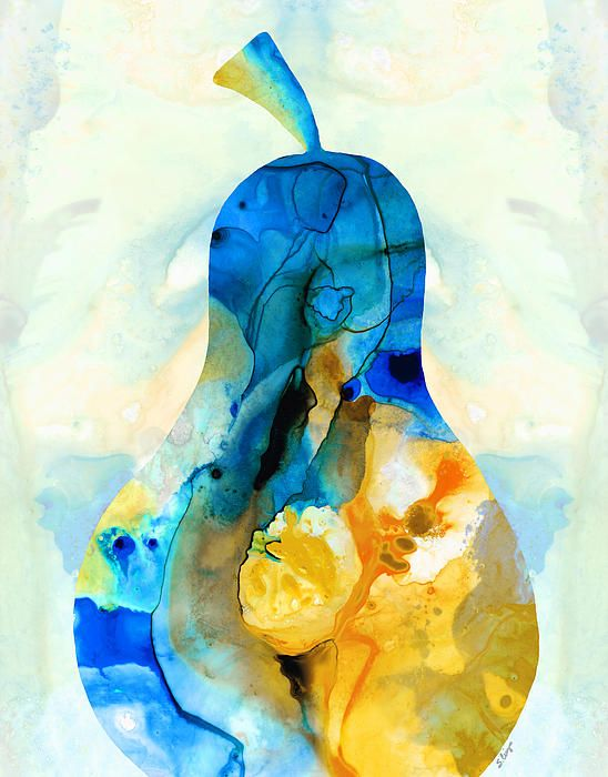 A nice pear abstract art by sharon cummings painting by for Abstract posters for sale