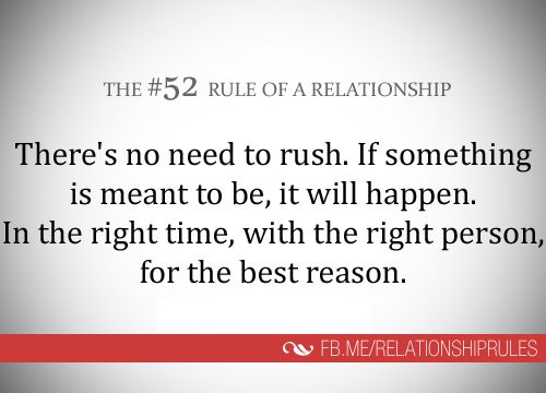 Dating take it slowly