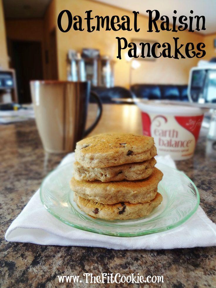 Gluten-Free Oatmeal Raisin Pancakes | food | Pinterest