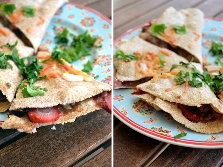 Strawberry Leek Quesadillas - Made these tonight. Delish!!