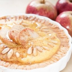 Mini apple custard tart | cheat day bakery | Pinterest