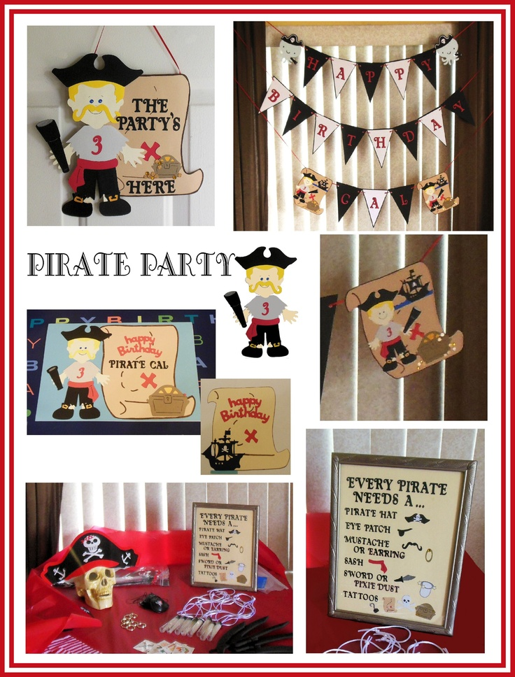 Pirate Decorations Made Using My Cricut  anniversaire