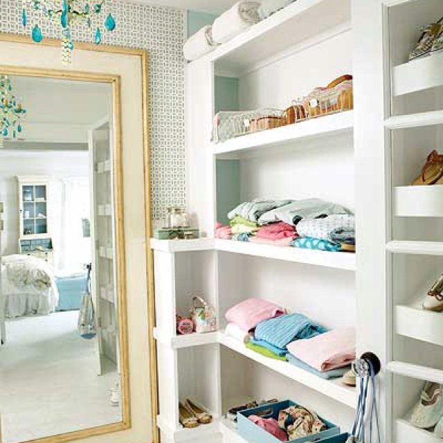 Open Closet  Ideas for the girls room  Pinterest