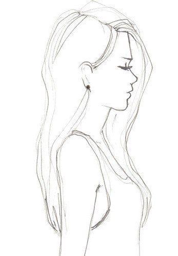 Рисунки девушка сзади карандашом