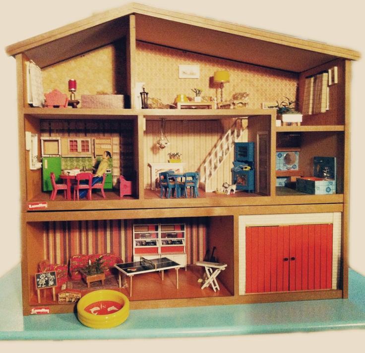 Cute RETRO Lundby Dollhouse - Miniature