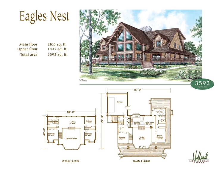 Holland log homes eagles nest dream home pinterest for Eagle nest home designs