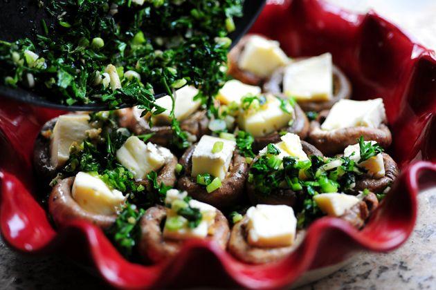 Mushrooms Stuffed with Brie | Recipe
