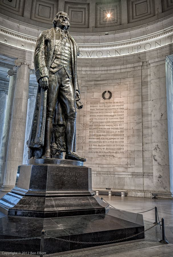 Jefferson statue thomas jefferson memorial history for Facts about the monument