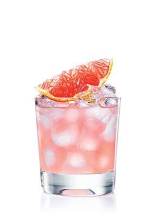 Juice from one white grapefruit, splash of vodka, triple sec and ...