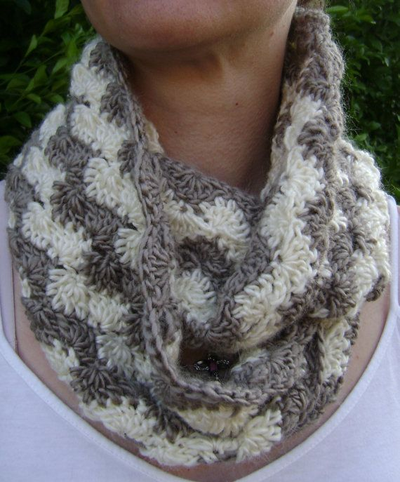 Crochet Patterns Shell : Crochet Pattern - Crochet Cowl Pattern - Shell Ripple - PDF Pattern on ...