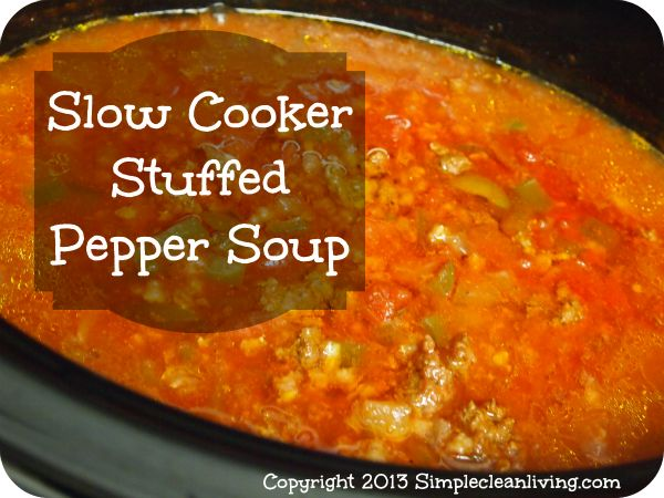Pepper Soup: 1 lb ground beef, grass fed 1 1/2 cup green pepper ...