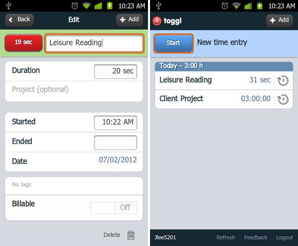 time tracker app android free