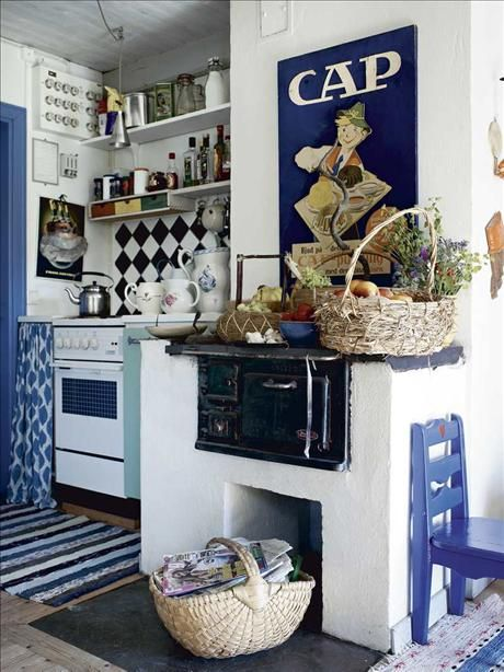 Shabby chic  white  blue  Small Spaces  Pinterest