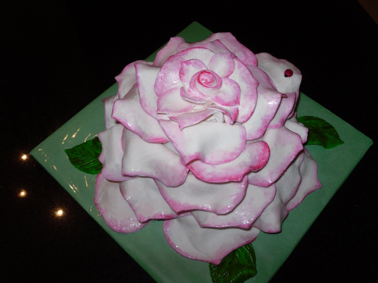 Birthday Cake Designs Roses : Pink Rose Birthday Cake My Fondant Cake Designs Pinterest