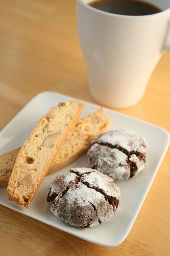 chocolate olive oil crinkle cookies | Cookies | Pinterest
