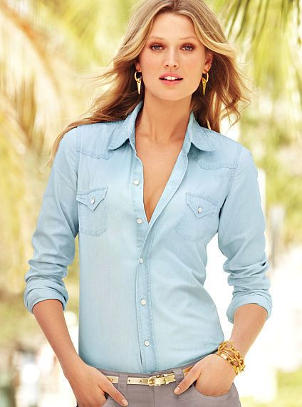 Pinterest discover and save creative ideas for Victoria secret button down shirt