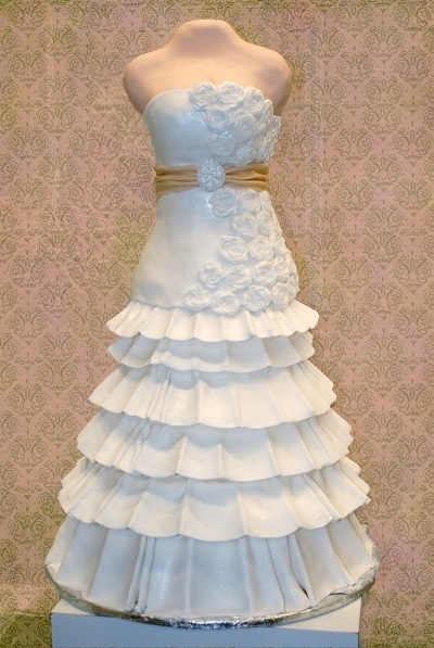 Wedding Dress Cake By maggidup on CakeCentral.com