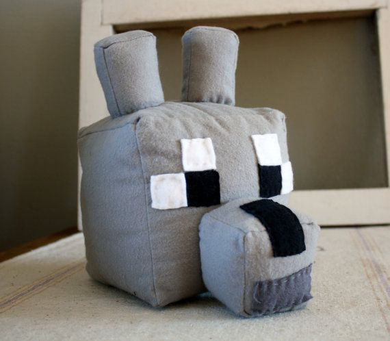 Wolf Toys For Boys : Large minecraft tame dog wolf plush head boy toy decor