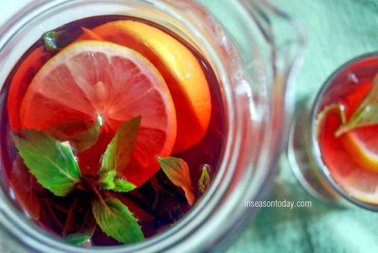 Raspberry, apple and mint iced tea | Easter Dinner Recipes | Pinterest