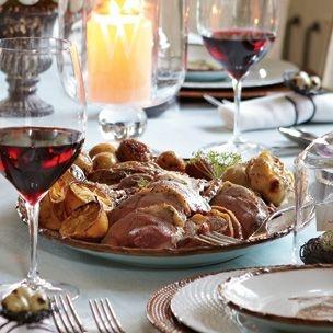Elegant Easter Dinner ... Leg of Lamb with Garlic and Lemon > Roasted ...