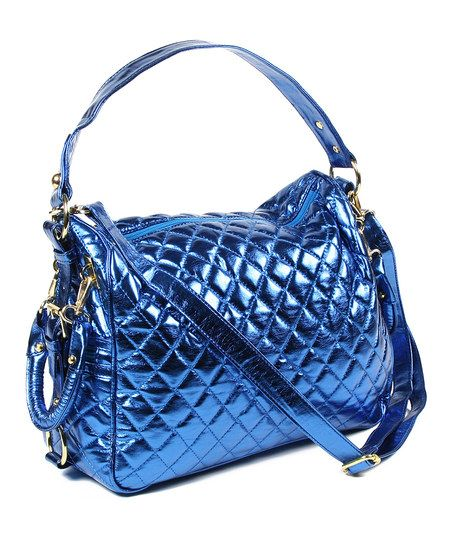 Blue Metallic Mira Handbag