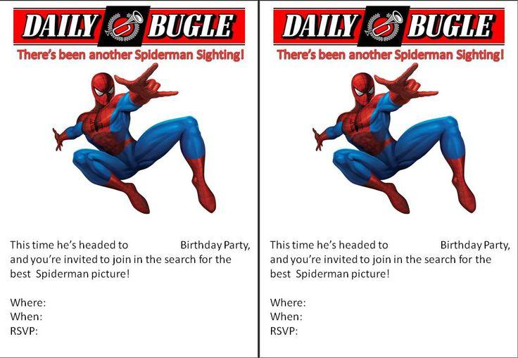 Spiderman Birthday Invitation Template | Kiddie Birthdays & Memories ...