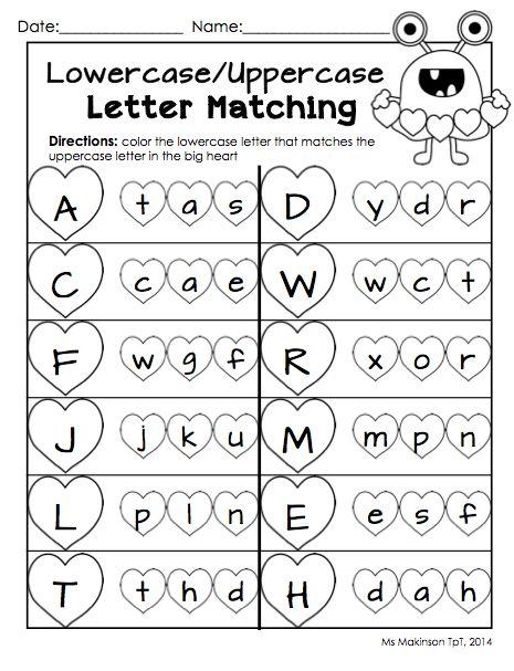 Letter worksheets for preschoolers