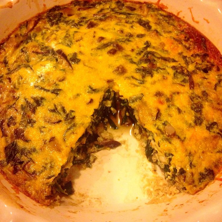 How to Cook Spinach and Mushroom Frittata | Recipe