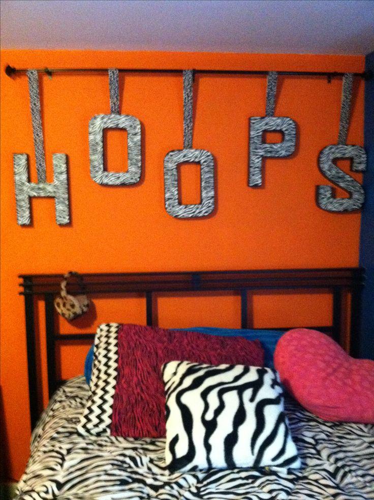 Combine girls basketball room with trendy zebra room for Basketball room ideas