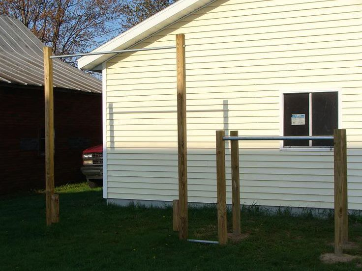 Pull Up Bar Outdoors : Backyard pull up bar and parallel bars  Outdoor obstacles  Pinterest