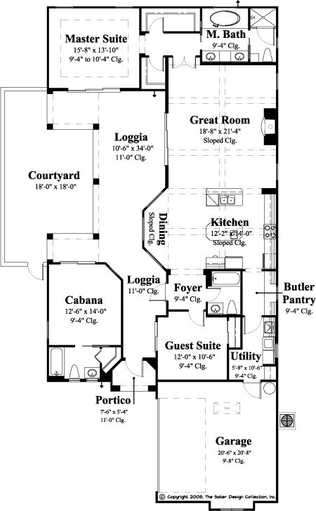 1 story narrow lot house plan home and decor pinterest for Narrow lot one story house plans