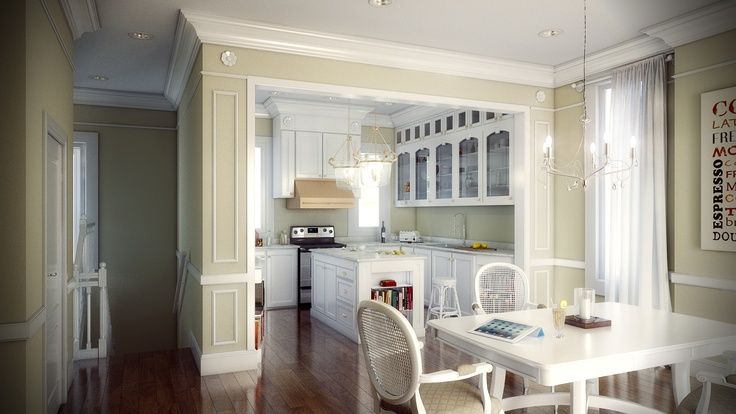 Photo Real Rendering Of Luxury Custom Kitchen By Bobby Parker