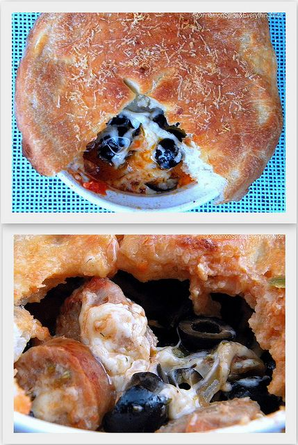Pizza Pot Pies by ~CinnamonGirl, via Flickr