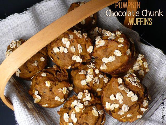 Pumpkin Chocolate Chunk Muffins | Breakfast Muffins and Cakes | Pinte ...