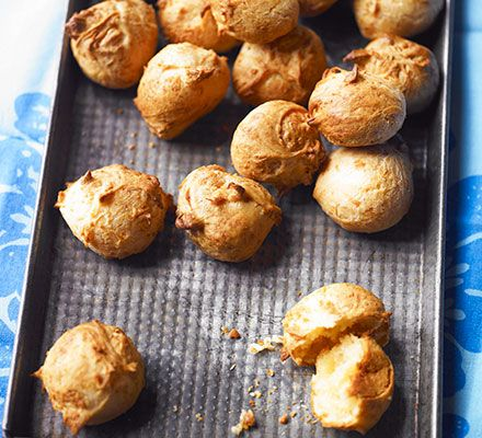 ... these light and fluffy cheese puffs are best served warm from the oven